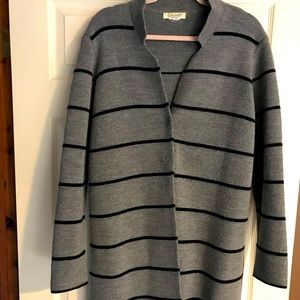 Cocogio XL Grey Black Merino Wool Jacket